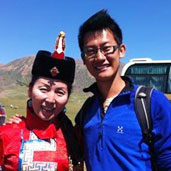 July 9th - I take the chance to take a photo with our guest hostess Wu Lan.