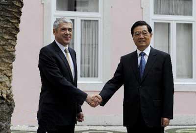Le Présedent Hu: renforcer le partenariat stratégique entre la Chine et le Portugal