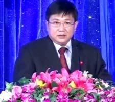 中央电视台网络中心主任汪文斌致词