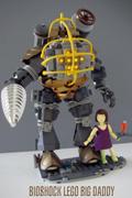 玩家自制乐高生化奇兵 可爱的小萝莉和大老爹