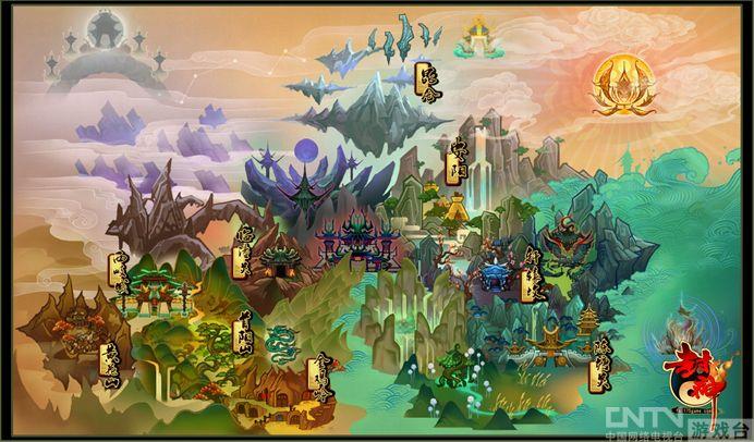 封神》世界地图_攻略_CNTV游戏台攻略世界手游鬼武者梦想图片