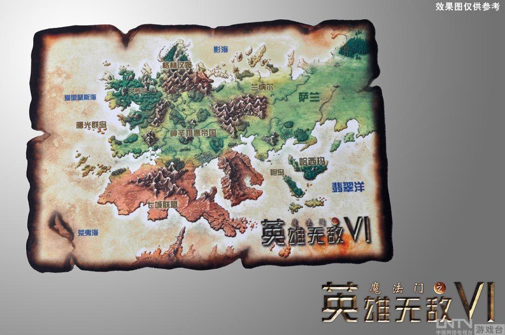 地图型鼠标垫(布面材质)1个珍藏英文版《英雄无敌6》