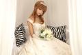 韩国人气组合螺旋猫组合成员REN唯美婚纱照