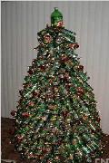 易拉罐做成圣诞树!让你的家闪亮整个圣诞节