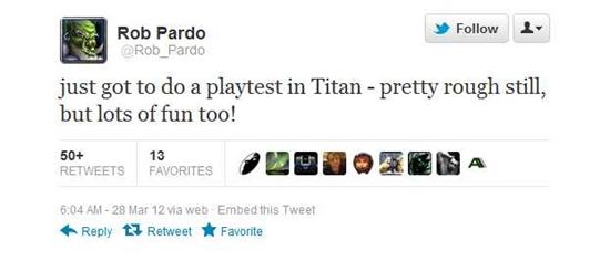 暴雪执行副总推特爆料新网游《Titan》试玩感受