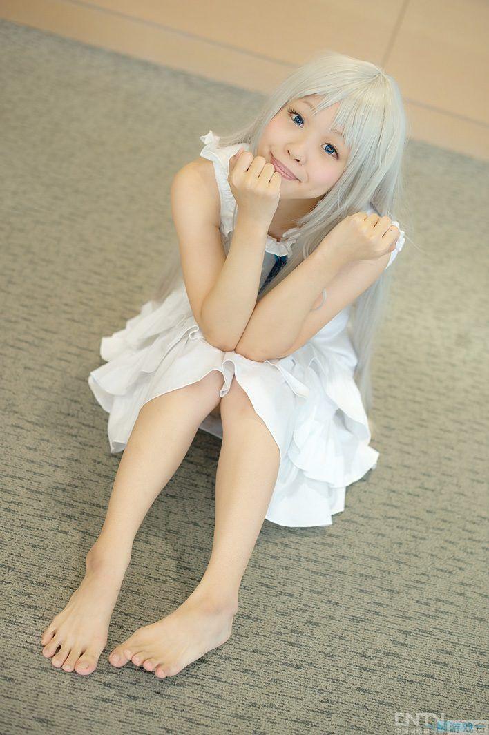 可爱小女生cosplay meiko