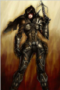 《暗黑破坏神3》猎魔人精彩同人原画