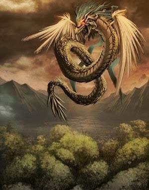 玛雅羽蛇神图片_玛雅人崇拜羽蛇神和雨神