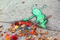 街道上的精灵 David Zinn的街头涂鸦
