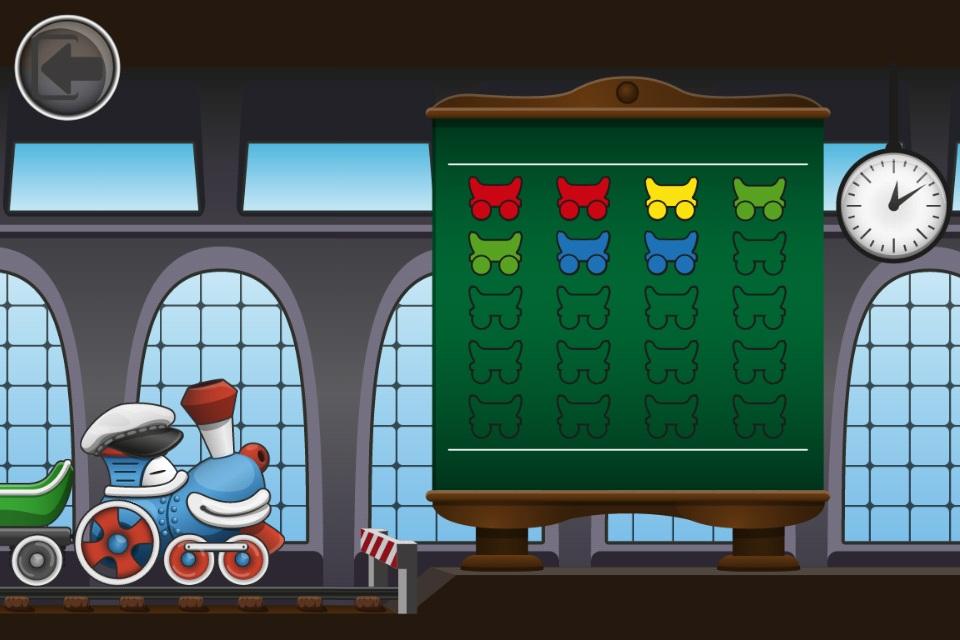 有趣的儿童游戏 彩虹火车