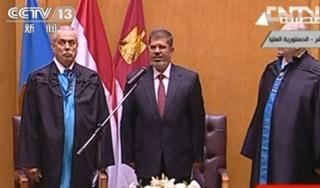 埃及当选总统穆尔西宣誓就职