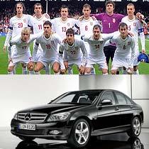 """塞尔维亚队一向以中规中矩的传统打法驰骋足坛,但实力绝对不能低估,南斯拉夫出产了不少著名球星,素有""""欧洲巴西""""之美誉。奔驰C级与塞尔维亚队相同,没什么值得关注的亮点,但稳扎稳打的C级还是拥有一定市场。"""