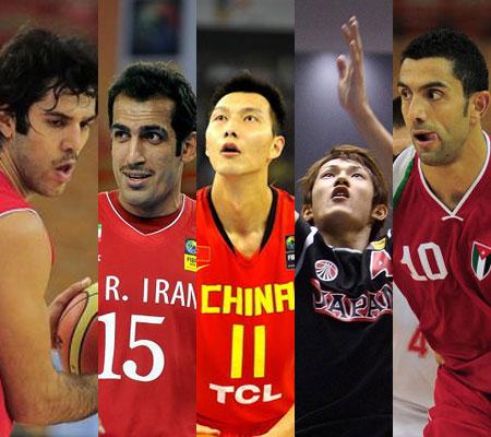 亚锦赛最佳阵容:中国仅一席 伊朗双核携手入选