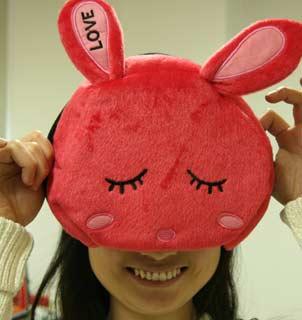 兔子鼠标暖手垫
