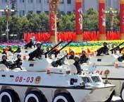 武警装甲车方队