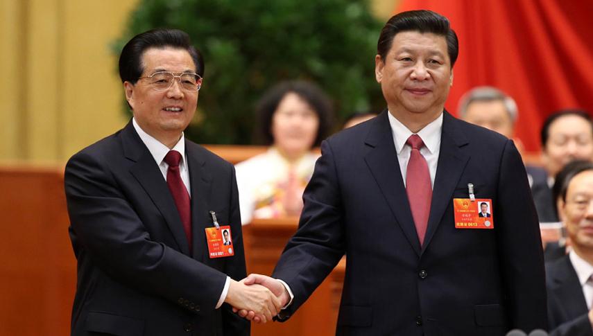 习近平当选国家主席军委主席  胡锦涛表示祝贺