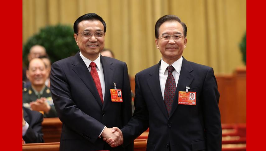 李克强出任国务院总理 温家宝表示祝贺