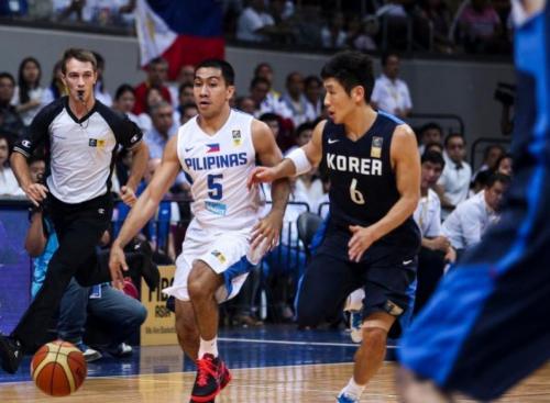 [高清组图]东道主菲律宾战胜韩国 决赛战伊朗