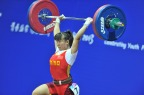 [高清组图]亚青会女子举重58公斤级 梁敬依夺冠