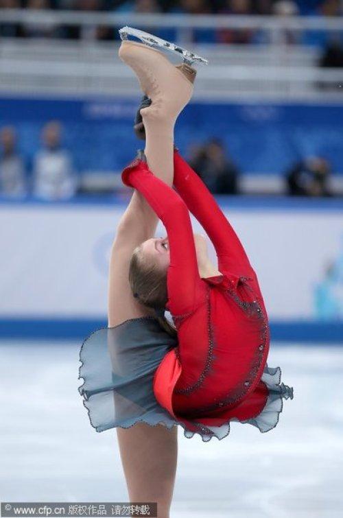[高清组图]俄新秀女单自由滑拔头筹 黑马压日本