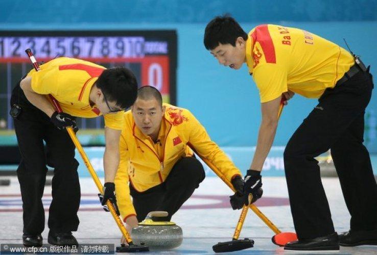 [高清组图]中国男子冰壶9-4美国 对手提前认负