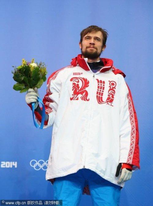 [高清组图]冬奥男子钢架雪车 俄罗斯选手夺冠