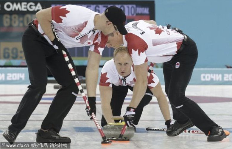 [高清组图]冬奥男子冰壶中国遭绝杀负加拿大