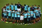 [高清组图]乌拉圭队备战比赛 迎战哥斯达黎加队