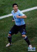 [高清组图]苏亚雷斯强势归来 乌拉圭胜英格兰