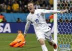 [高清组图]对阵乌拉圭 鲁尼打入个人世界杯首球