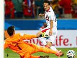 [世界杯]哥斯达黎加右路斜塞 乌雷尼亚推远角破门