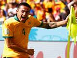 [世界杯]澳大利亚长传战术奏效 卡希尔抽射世界波