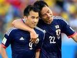 [世界杯]本田圭佑右路传中 冈崎慎司前点甩头破门