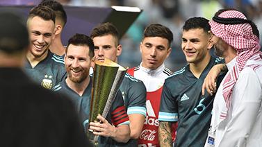 [圖]熱身-梅西破門熱蘇斯射失點球 阿根廷1-0巴西