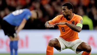 [圖]維納爾杜姆帽子戲法 歐預賽荷蘭五球完勝