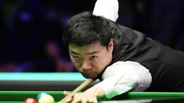[图]丁俊晖6-2颜丙涛 生涯第6次进三大赛决赛