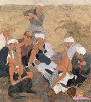 马杰 惠波《黄土暖秋》(中国画)湖北