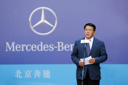 北汽集团董事长、北京奔驰董事长徐和谊在2012中网开幕式上致辞