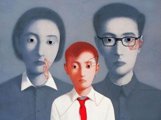 张晓刚作品 血缘:大家庭系列