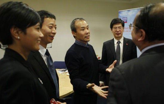 万科集团董事长王石周末在伦敦商学院首届中国商业论坛露面