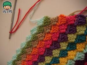 毛线圆坐垫图解 毛线坐垫的编织方法 毛线编织坐垫图片高清图片
