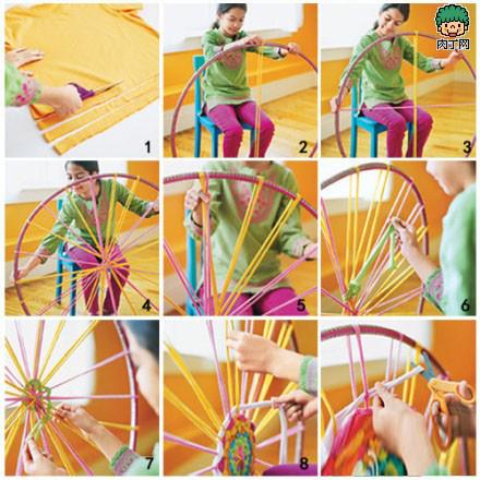 毛线编织坐垫图案 毛线编织电动车坐垫 毛线坐垫的编织方法高清图片