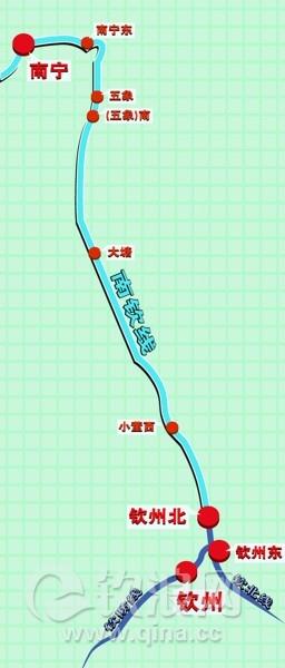 """钦州将打造""""零换乘""""高铁"""