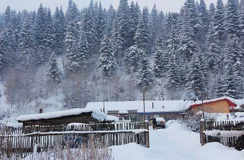 雪乡的美丽雪景