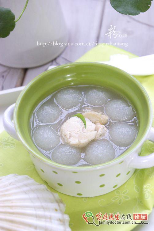 15分钟打造快手海鲜汤——扇贝虾米瓜球汤