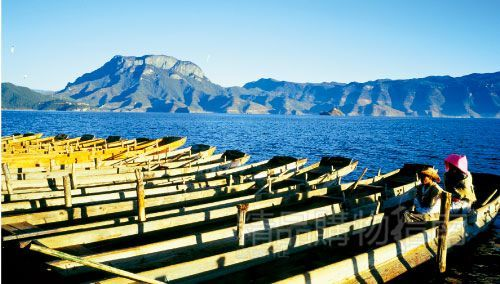 猪槽船是每位游人必坐的特色船。