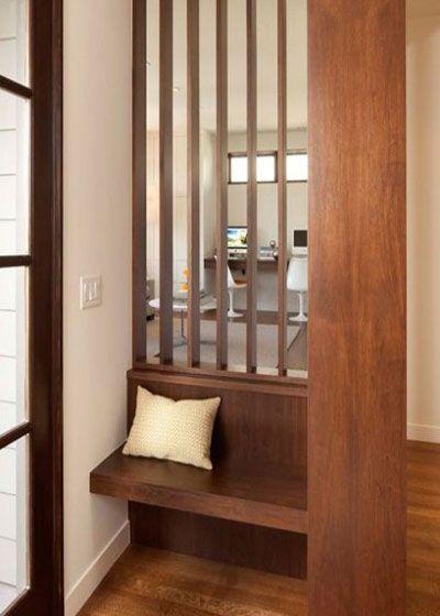 木工玄关隔断酒柜创意造型图片