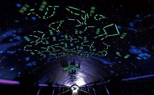 走进星空隧道,十二星座星光满天