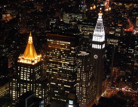 帝国大厦夜景