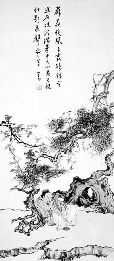 图为《希夷酣睡图》。(台湾历史博物馆提供)